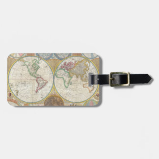 A General Map of the World by Samuel Dunn 1794 Tag For Luggage