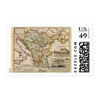 A general map of Turkey in Europe Postage