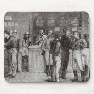 A general shout', inside a bush tavern, 1878 mouse pad