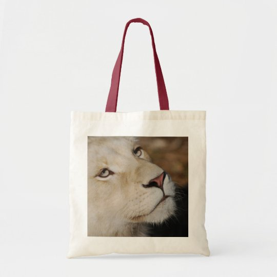 A gentle lion face South Africa Tote Bag