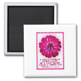A Gentle Response 2 Inch Square Magnet