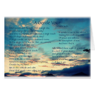 A Gentle Voice poetry card