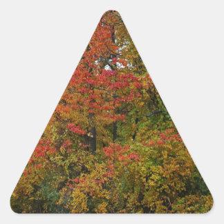 A Gentle Wind in Wildwood Triangle Sticker