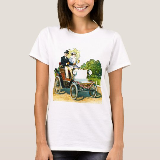 A Gentleman and His Lady Go For a Ride - Vintage T-Shirt
