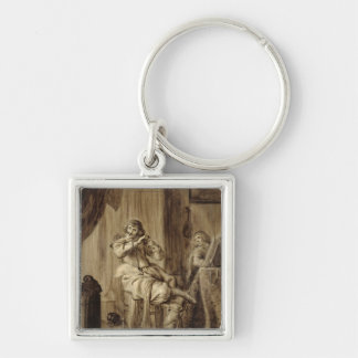 A Gentleman at his Toilet, 1660 Keychain