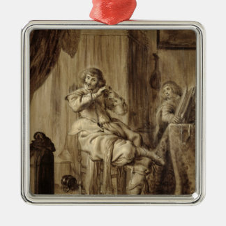 A Gentleman at his Toilet, 1660 Metal Ornament