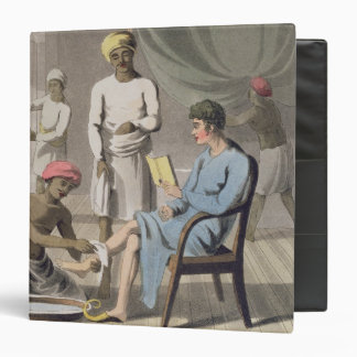 A Gentleman Dressing, attended by his Head Bearer, Binder