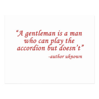 A gentleman is... postcard
