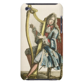 A gentleman playing the harp (engraving) Case-Mate iPod touch case