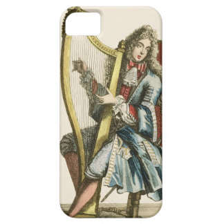 A gentleman playing the harp (engraving) iPhone SE/5/5s case