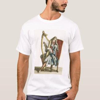 A gentleman playing the harp (engraving) T-Shirt