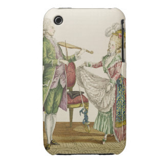 A gentleman playing the violin while a lady dances iPhone 3 case