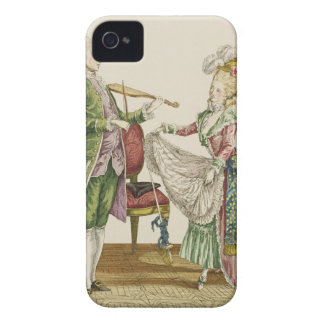 A gentleman playing the violin while a lady dances iPhone 4 case