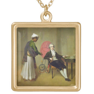 A Gentleman, possibly William Hickey, and his Indi Pendants