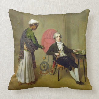 A Gentleman, possibly William Hickey, and his Indi Throw Pillow