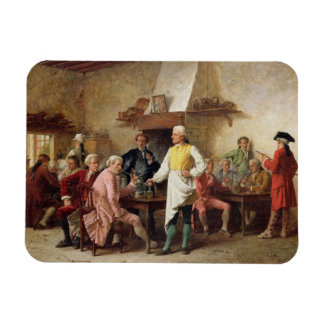 A Gentleman s Debate 1881 oil on panel Rectangle Magnets