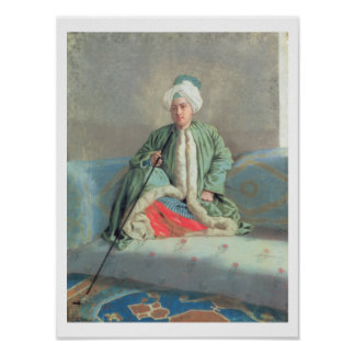 A Gentleman Seated on a Couch Poster
