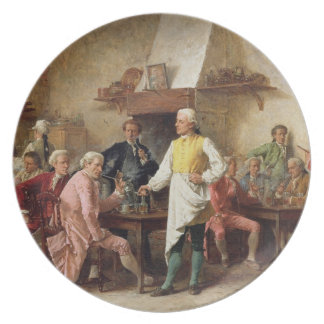 A Gentleman's Debate, 1881 (oil on panel) Melamine Plate