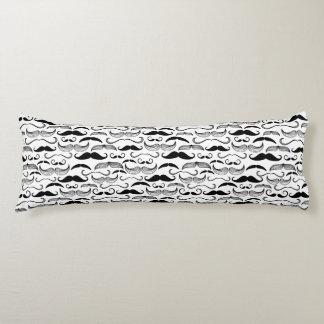 A Gentlemen's Club. Mustache pattern 2 Body Pillow