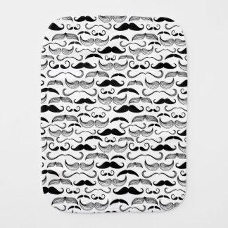 A Gentlemen's Club. Mustache pattern 2 Burp Cloth
