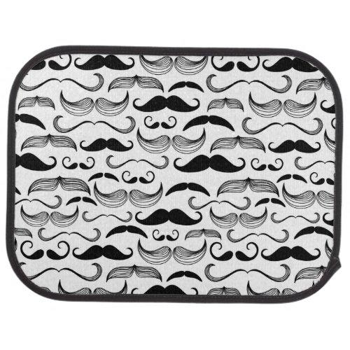 A Gentlemens Club Mustache pattern 2 Car Mat