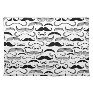 A Gentlemen's Club. Mustache pattern 2 Cloth Placemat