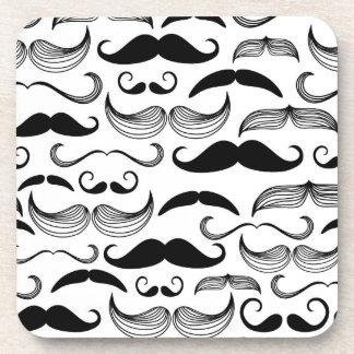 A Gentlemen's Club. Mustache pattern 2 Coasters