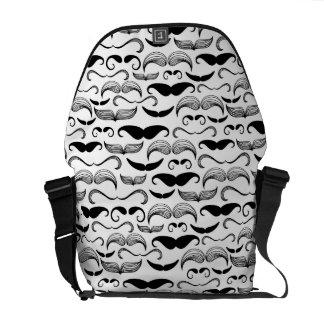 A Gentlemen's Club. Mustache pattern 2 Courier Bag