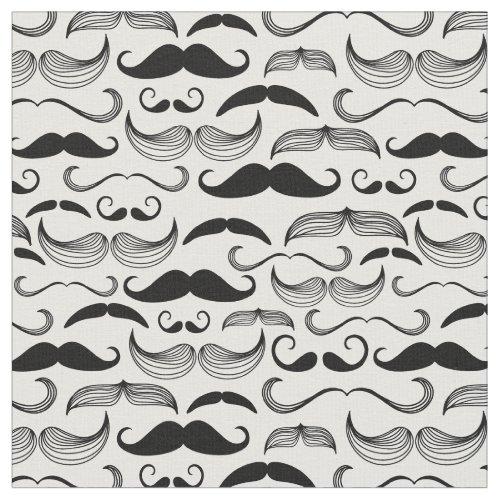 A Gentlemens Club Mustache pattern 2 Fabric