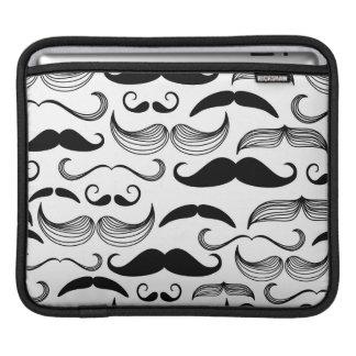 A Gentlemen's Club. Mustache pattern 2 iPad Sleeves