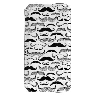 A Gentlemen's Club. Mustache pattern 2 iPhone 6/6s Wallet Case