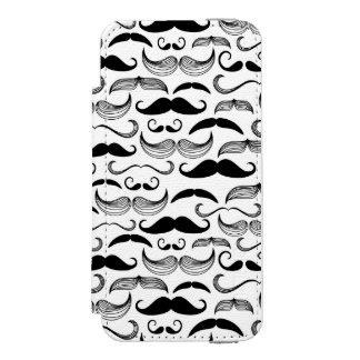 A Gentlemen's Club. Mustache pattern 2 iPhone SE/5/5s Wallet Case