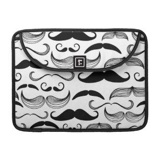 A Gentlemen's Club. Mustache pattern 2 Sleeve For MacBooks