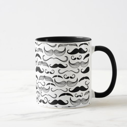 A Gentlemens Club Mustache pattern 2 Mug