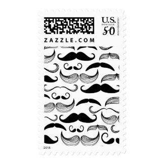 A Gentlemen's Club. Mustache pattern 2 Postage