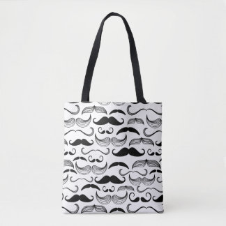 A Gentlemen's Club. Mustache pattern 2 Tote Bag