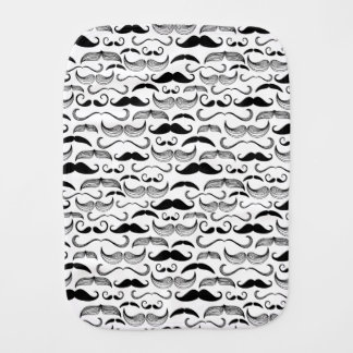 A Gentlemen's Club. Mustache pattern 2 Baby Burp Cloth
