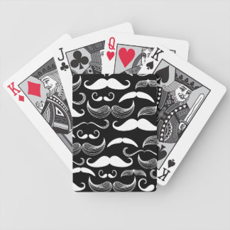 A Gentlemen's Club. Mustache pattern Bicycle Playing Cards