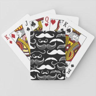 A Gentlemen's Club. Mustache pattern Deck Of Cards