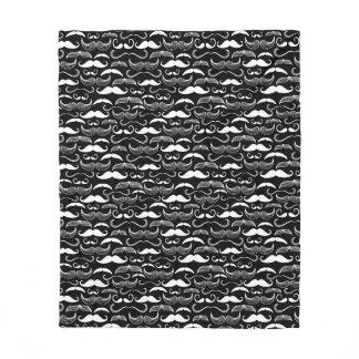 A Gentlemen's Club. Mustache pattern Fleece Blanket