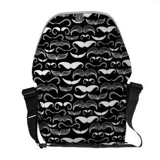 A Gentlemen's Club. Mustache pattern Messenger Bag