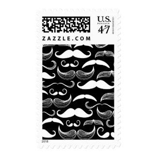 A Gentlemen's Club. Mustache pattern Postage