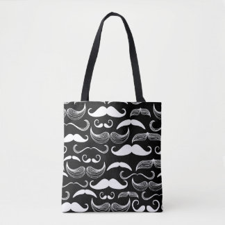 A Gentlemen's Club. Mustache pattern Tote Bag