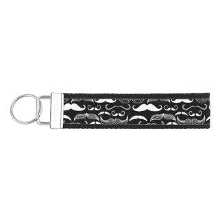 A Gentlemen's Club. Mustache pattern Wrist Keychain