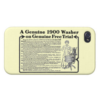 A Genuine 1900 Washer Case For iPhone 4