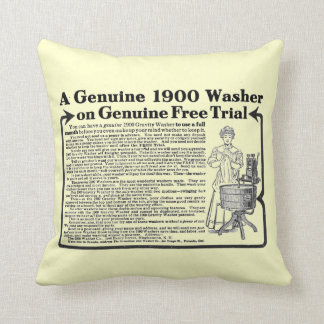 A Genuine 1900 Washer Throw Pillow