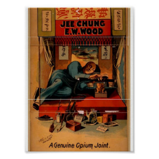 A Genuine Opiu Joint, 'E.W.WOOD' Retro Theater Print