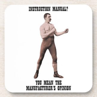 A Genuine Overly Manly Man Beverage Coaster