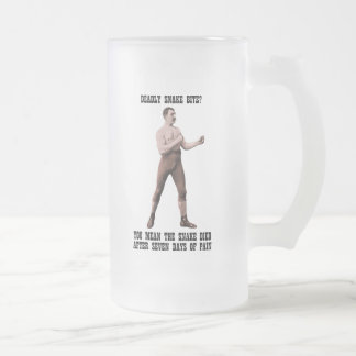 A Genuine Overly Manly Man Frosted Glass Beer Mug