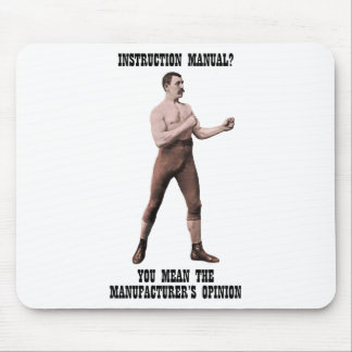 A Genuine Overly Manly Man Mouse Pad